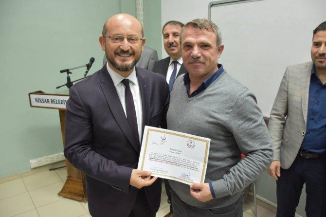 Niksar'da okuma yarışmasının ödülleri verildi