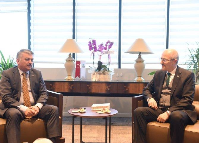 Vali Yazıcı'dan Başkan Kafaoğlu'na hayırlı olsun ziyareti