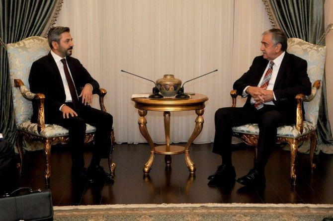 KKTC Cumhurbaşkanı Akıncı, TBMM Başkan Vekili Aydın'ı kabul etti