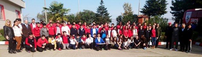 Öğrencilerinden Samsunspor'a moral