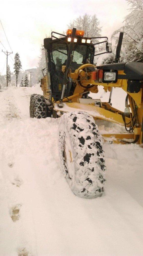Trabzon'un yüksek kesimlerinde kar kalınlığı 35 cm'ye ulaştı