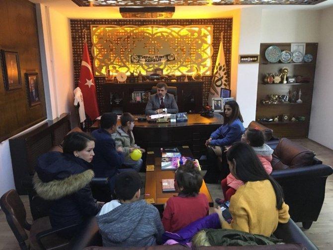 Özel öğrenciler Başkan Cankul'u ziyaret etti