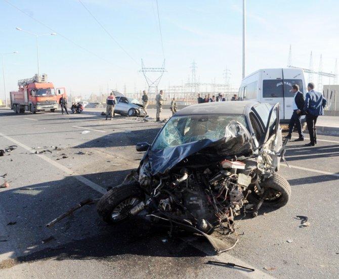 Cizre'de trafik kazası: 1 ölü, 4 yaralı