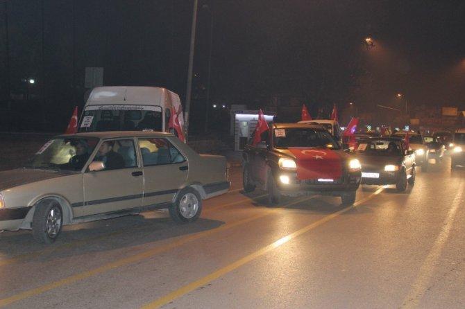 Afyonkarahisar'da, Kudüs için araç konvoyu oluşturuldu