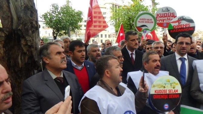 Hatay'da Kudüs kararı protesto edildi