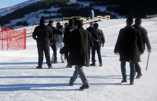 Kayak merkezinde arbede