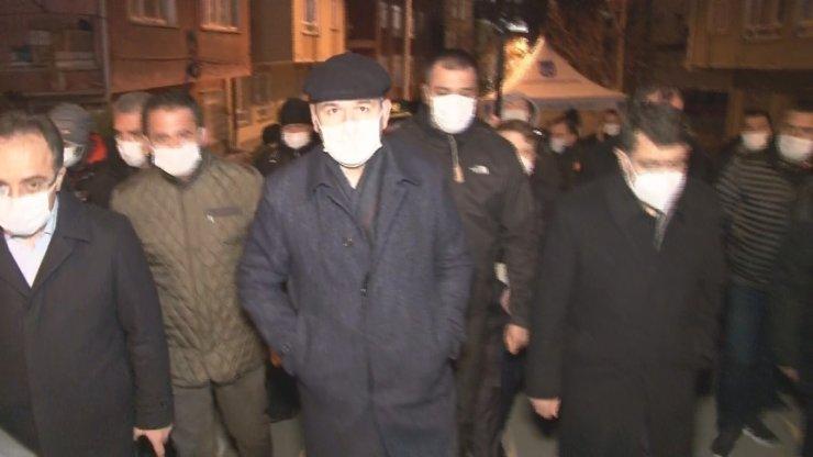Bakan Soylu ve Vali Şahin Ankara'da Açelya apartmanı yıkım çalışmalarını inceledi