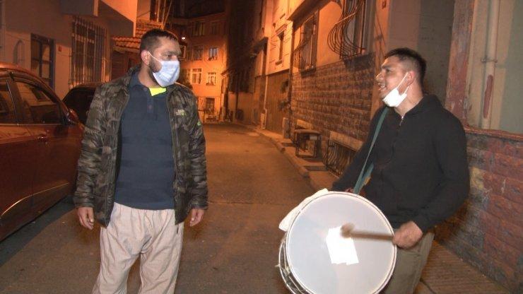 İstanbul'da Ramazan davulcusundan 'korona virüs bestesi'