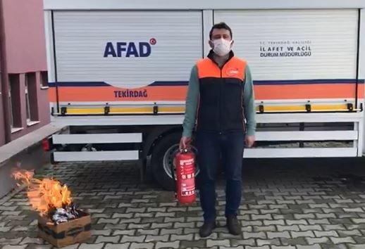 Yangın söndürme tüpü eğitimi: Yeşil gösterge yoksa kesinlikle kullanmayın