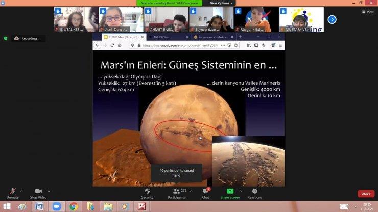 Öğrenciler, NASA'ya bağlandı