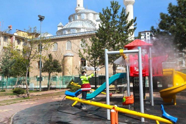 Elazığ'da kapsamlı temizlik,ilaçlama ve bakım çalışması