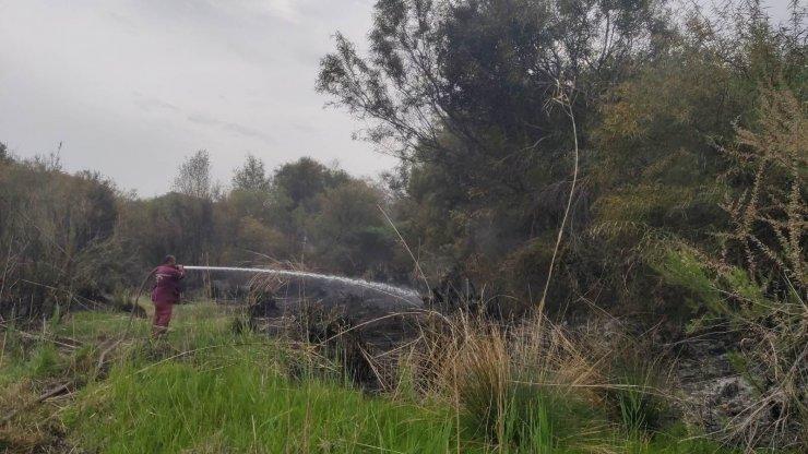 Seydikemer'de yangında 2 dönüm alan zarar gördü