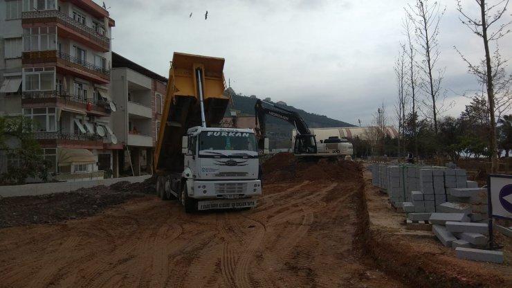 Hereke Sahili yolu yapımına başlandı