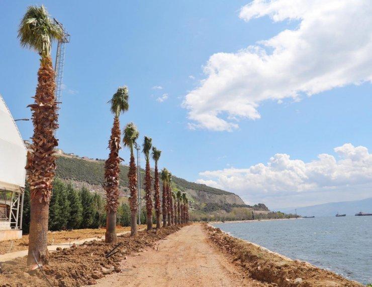 Hereke Sahil Parkı'nda çalışmalar sürüyor