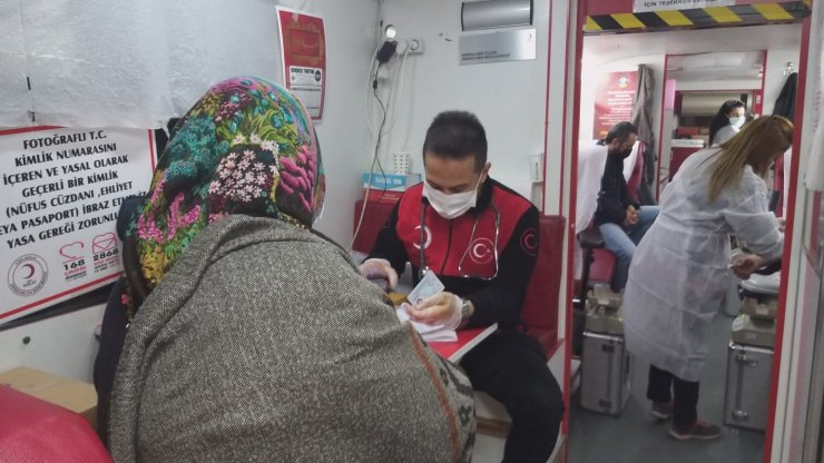 İftar sonrası kan bağışında bulundular