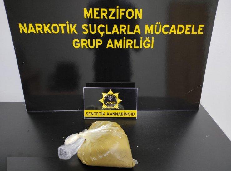 457 gram sentetik uyuşturucuya 1 tutuklama