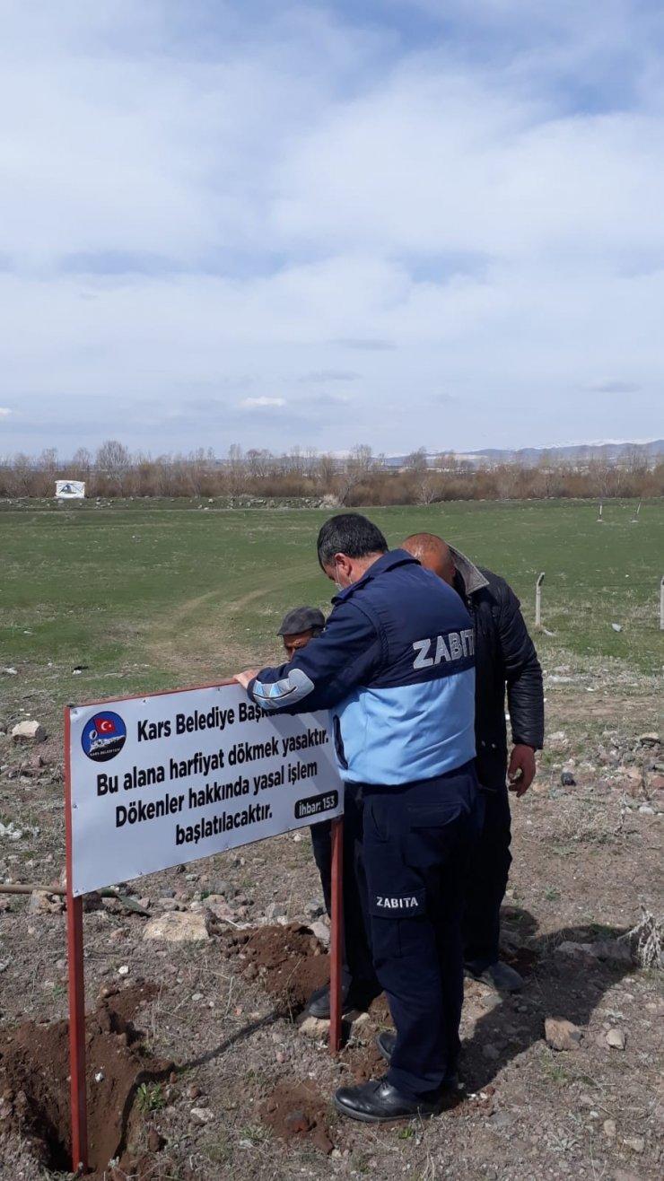 Kars'ta gelişi güzel hafriyat dökenlere ceza kesilecek