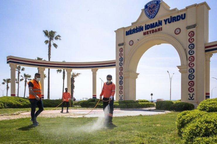 Mersin'de zararlılara karşı ilaçlama çalışması