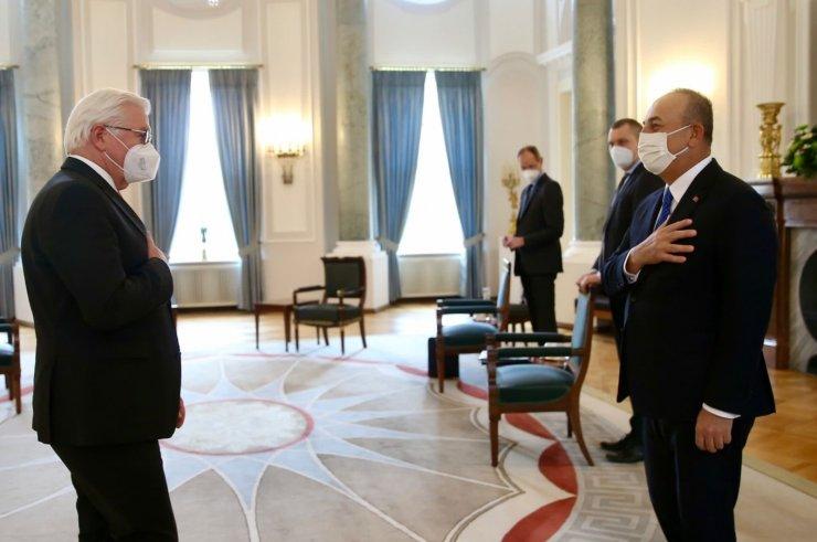 Bakan Çavuşoğlu, Almanya Cumhurbaşkanı Steinmeier ile görüştü
