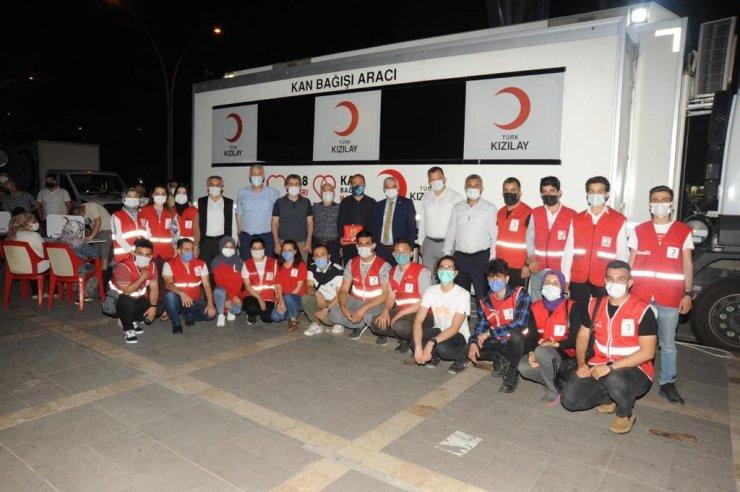 Basın mensupları kan bağışında bulundu