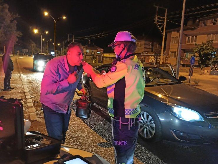 Şuhut'ta trafik ekiplerinden alkol denetimi