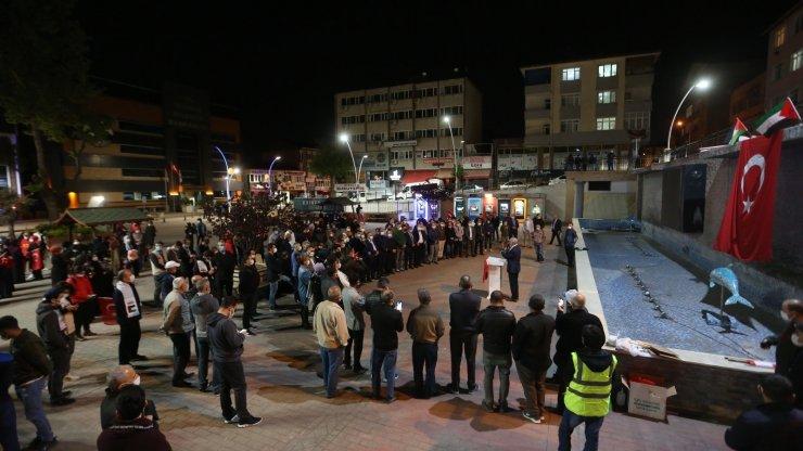 Derince'de Filistin için destek programı düzenlendi