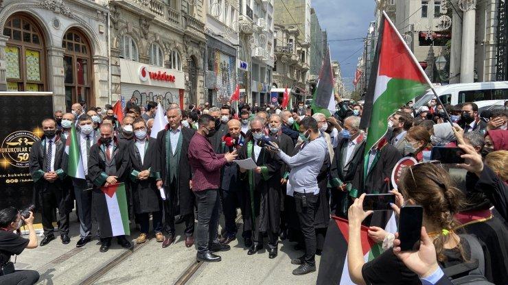 Hukukçular derneği ve İstanbul 2 Nolu barosu Filistin'deki zulmünü kınadı