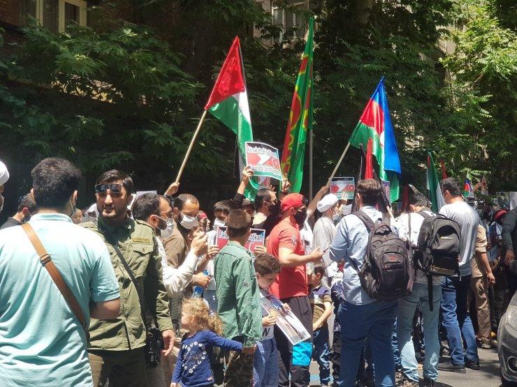 Tahran'da Filistin'e destek gösterisi yapıldı