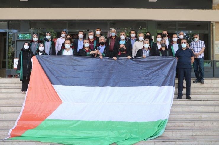 Malatya'da hukukçular İsrail'in Filistin halkına yaptığı zulmü kınadı