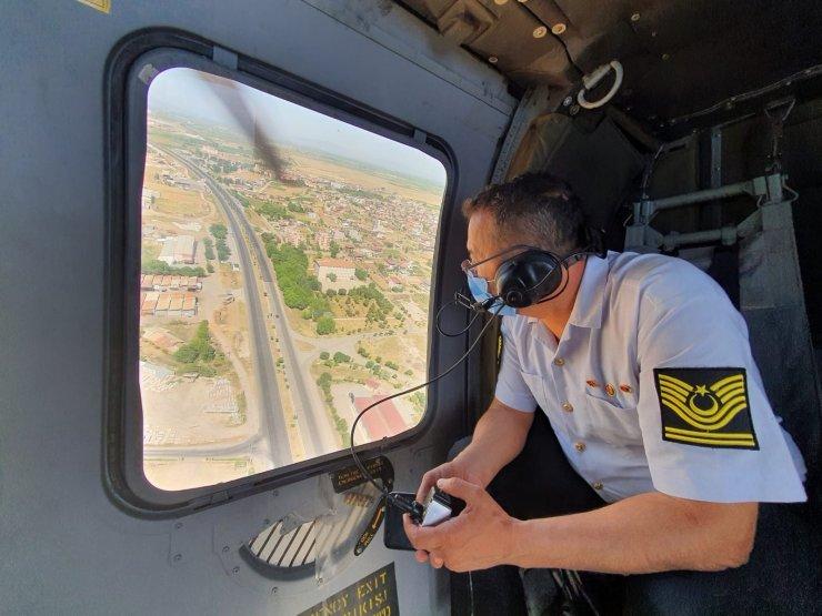 Manisa'da helikopterli denetimde 33 araç sürücüsüne ceza
