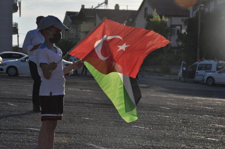 Karaman'da İsrail'in Filistin'e yönelik saldırıları protesto edildi