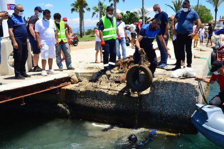 Side Limanı'nda yapılan sualtı temizliğinde denizden çıkmayan kalmadı