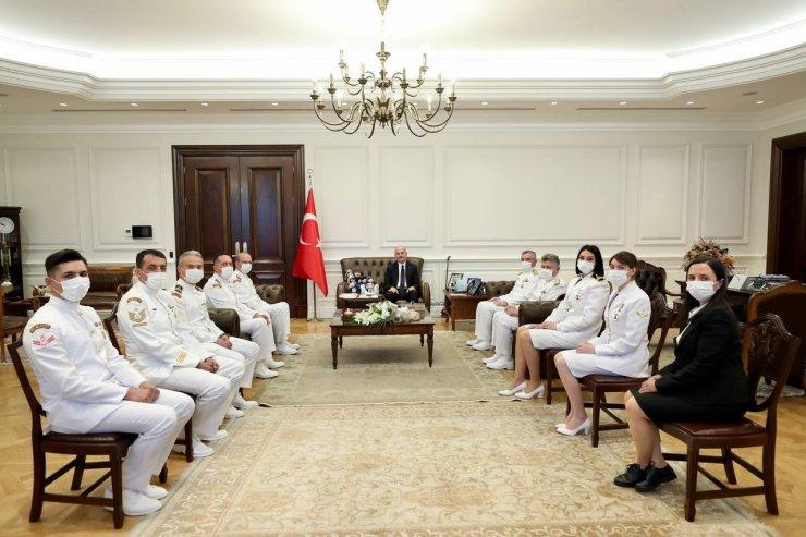 Bakan Soylu, Sahil Güvenlik Komutanlığı heyetini makamında ağırladı