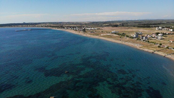 Mavi bayraklı Geyikli sahillerinde müsilaj yok, huzur var