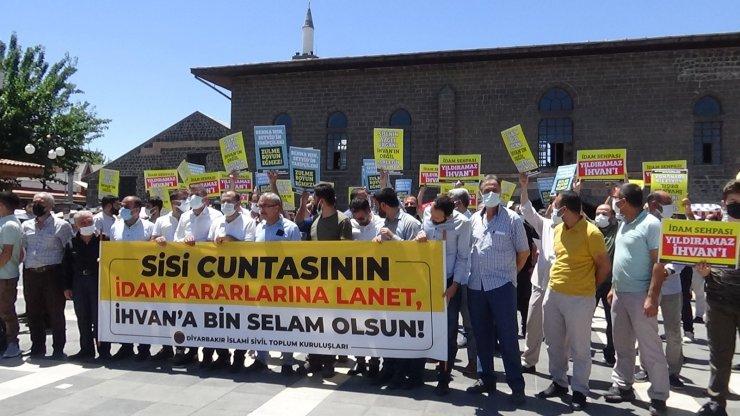 Mısır'da İhvan liderlerine yönelik idam kararları Diyarbakır'da protesto edildi
