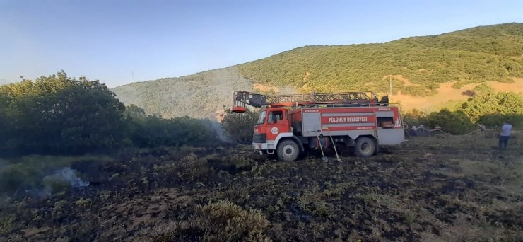 Tunceli'de ormanlık alana sıçrayan yangın büyümeden söndürüldü