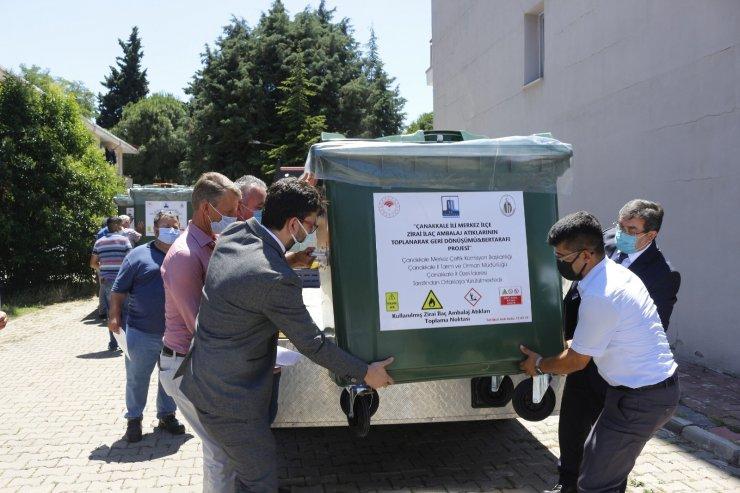 Çanakkale'de zirai atıkların toplanacağı konteynerler törenle dağıtıldı