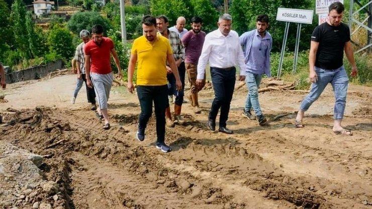 Başkan Güler selden etkilenen mahallelerde incelemelerde bulundu