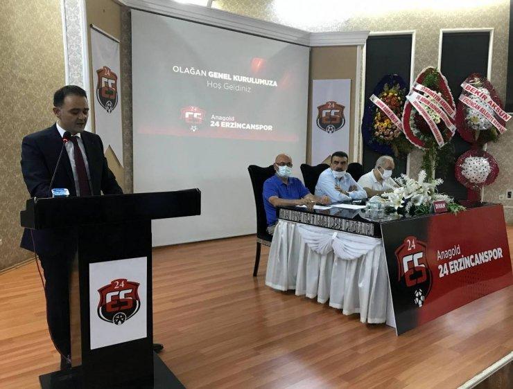 """Güven tazeleyen 24Erzincanspor Başkanı Keleş: """"Erzincan sporumuzu kahve köşelerinde, sabah çorbalarında ve deniz kenarlarında hiç kimseye meze etmeyeceğiz"""""""