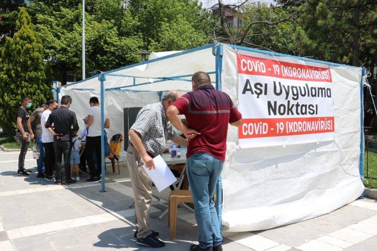 Beyşehir'de aşı uygulama noktası kuruldu