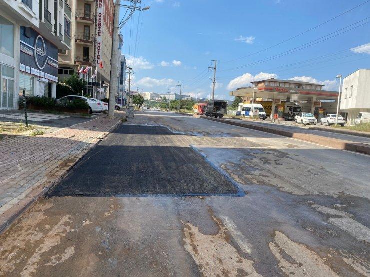 Gebze'de iki cadde daha onarıldı