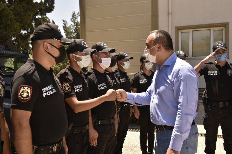 Jandarma ile poliste bayramlaşma töreni