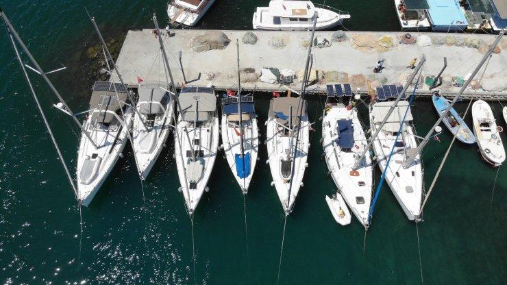 Yelkencilerin yeni keşif rotası Edremit Körfezi
