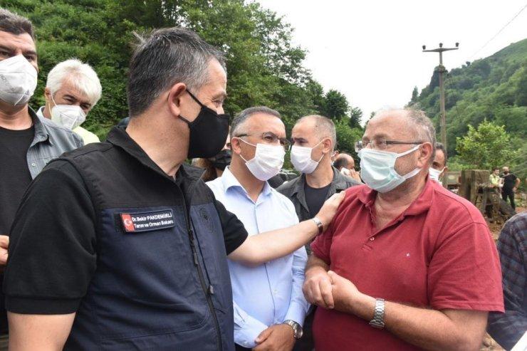 Tarım ve Orman Bakanı Dr. Bekir Pakdemirli Büyükköy'de incelemelerde bulundu
