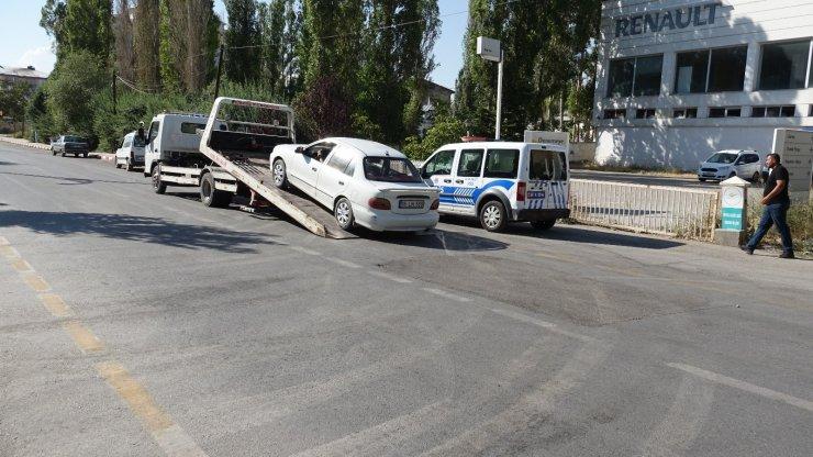 Erciş'te droneli trafik denetim