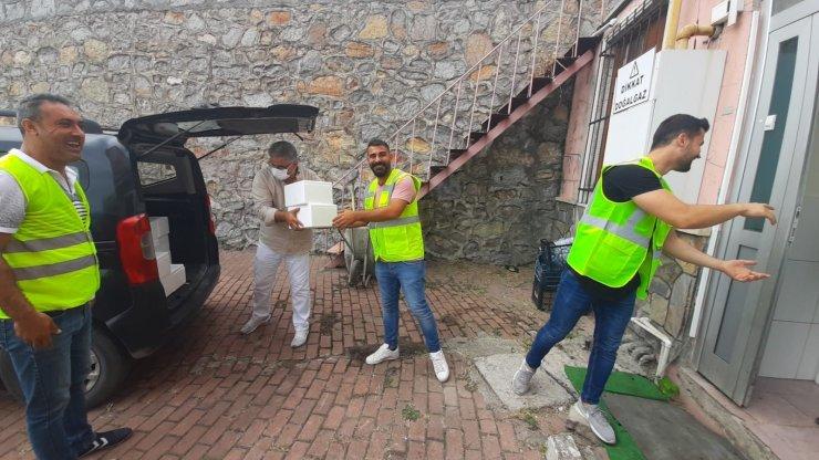Dilovası'nda 5 bin et dağıtıldı