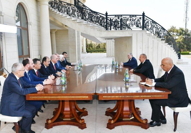 Azerbaycan Cumhurbaşkanı Aliyev, AK Parti Genel Başkanvekili Kurtulmuş'u kabul etti