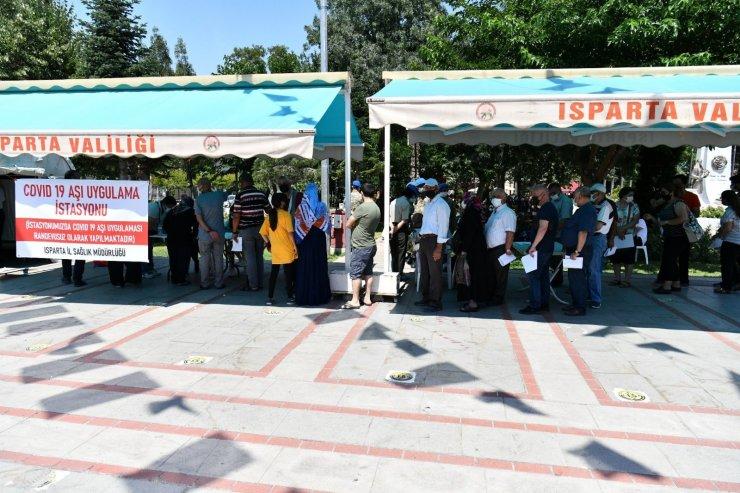 Isparta'da aşılama oranı yüzde 69'a ulaştı