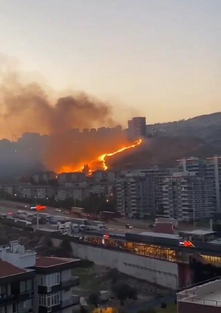 İzmir'de otluk alanlarda çıkan yangınlar söndürüldü