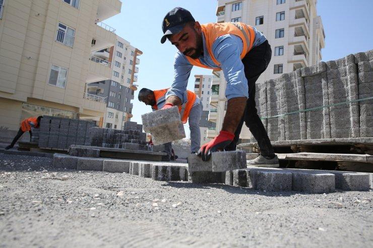 Karaköprü'de parke çalışmaları devam ediyor